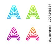 letter a colorful logotype with ... | Shutterstock .eps vector #1029248599