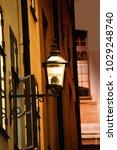 old metal streetlamp with... | Shutterstock . vector #1029248740