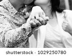 happy couple in love. married... | Shutterstock . vector #1029250780