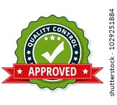 quality control checkmark label ... | Shutterstock .eps vector #1029251884
