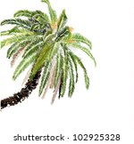 palm tree on white background | Shutterstock .eps vector #102925328