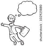cartoon businessman late for... | Shutterstock . vector #102925880