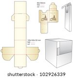 die gift paper box | Shutterstock .eps vector #102926339