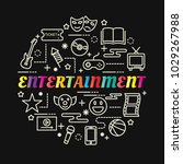 entertainment colorful gradient ... | Shutterstock .eps vector #1029267988