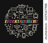entertainment colorful gradient ... | Shutterstock .eps vector #1029267988