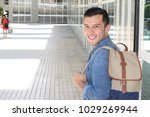 natural young man smiling close ... | Shutterstock . vector #1029269944