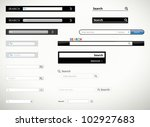 a collection of search form... | Shutterstock .eps vector #102927683