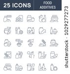 set of vector line icons  sign... | Shutterstock .eps vector #1029277273