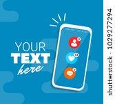 social media communication on... | Shutterstock .eps vector #1029277294