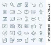 line marketing icons. vector... | Shutterstock .eps vector #1029278128