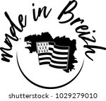 made in brittany  produit en... | Shutterstock .eps vector #1029279010