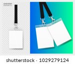 lanyard design with transparent ... | Shutterstock .eps vector #1029279124