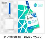 lanyard design with transparent ... | Shutterstock .eps vector #1029279130