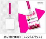 lanyard design with transparent ... | Shutterstock .eps vector #1029279133