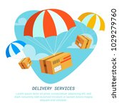 delivery service concept. flat... | Shutterstock .eps vector #1029279760