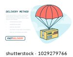delivery service concept. flat... | Shutterstock .eps vector #1029279766