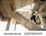 young professional engineer... | Shutterstock . vector #1029284929