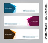 banner background.modern vector ... | Shutterstock .eps vector #1029285088