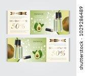 gift voucher hydrating facial... | Shutterstock .eps vector #1029286489