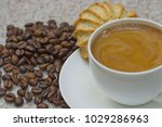 still life with a cup of coffee ... | Shutterstock . vector #1029286963