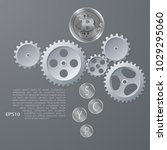 vector illustration of bitcoin... | Shutterstock .eps vector #1029295060