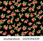 floral pattern with shading... | Shutterstock . vector #1029296539