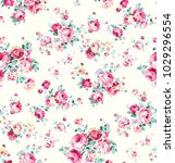 floral pattern with shading... | Shutterstock . vector #1029296554