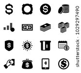 solid vector icon set   dollar... | Shutterstock .eps vector #1029297490