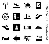 solid vector icon set   antenna ... | Shutterstock .eps vector #1029297520