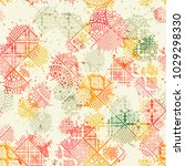 seamless pattern  patchwork... | Shutterstock .eps vector #1029298330