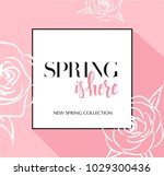 design banner with lettering... | Shutterstock .eps vector #1029300436