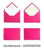 pink envelope set isolated on...   Shutterstock . vector #1029300550
