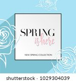 design banner with spring is... | Shutterstock .eps vector #1029304039
