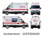 vector ambulance van isolated... | Shutterstock .eps vector #1029304630