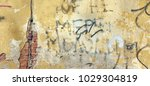 distressed yellow brown old... | Shutterstock . vector #1029304819