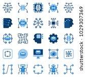 artificial intelligence flat... | Shutterstock .eps vector #1029307369