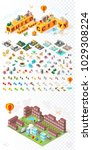 build your own city . set of... | Shutterstock .eps vector #1029308224