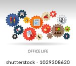 office life flat icon concept.... | Shutterstock .eps vector #1029308620