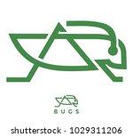 grasshoper simple abstract | Shutterstock .eps vector #1029311206