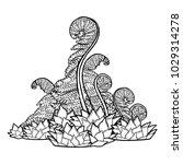 graphic design with prehistoric ... | Shutterstock .eps vector #1029314278