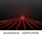 abstract red laser beam.... | Shutterstock .eps vector #1029315430