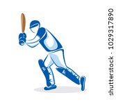 cricket player hitting big... | Shutterstock .eps vector #1029317890
