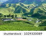 majestic view of landscape of... | Shutterstock . vector #1029320089