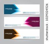 banner background.modern vector ... | Shutterstock .eps vector #1029324526
