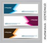 banner background.modern vector ...   Shutterstock .eps vector #1029324610