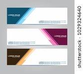 banner background.modern vector ... | Shutterstock .eps vector #1029324640