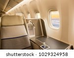 business jet interior | Shutterstock . vector #1029324958