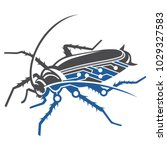 cockroaches robot black and blue | Shutterstock .eps vector #1029327583