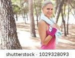 portrait of beautiful mature... | Shutterstock . vector #1029328093