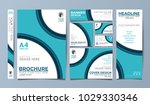 blue corporate identity set... | Shutterstock .eps vector #1029330346